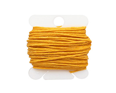 Bright Autumn Yellow Irish Waxed Linen 7 ply