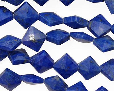 Lapis Faceted Diamond 10mm