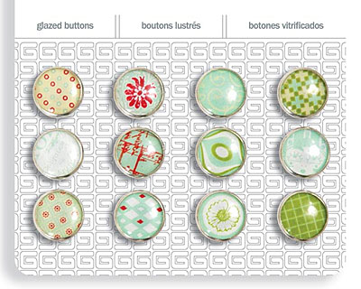 Seaspray Glazed Buttons 12mm