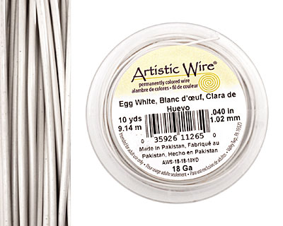 Artistic Wire Egg White 18 gauge, 10 yards