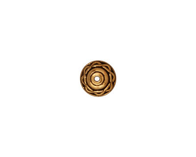 TierraCast Antique Gold (plated) Celtic Bead Cap 5x8mm
