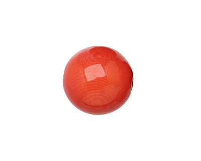 Tagua Nut Orange Round 16mm