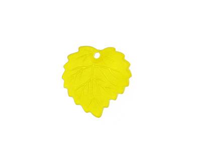 Matte Light Topaz Lucite Ivy Leaf 16mm