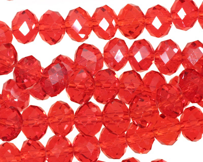 Siam Ruby Crystal Faceted Rondelle 8mm