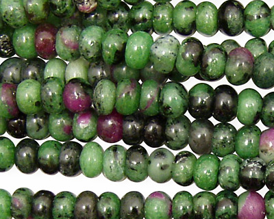 Ruby Zoisite Rondelle 6mm