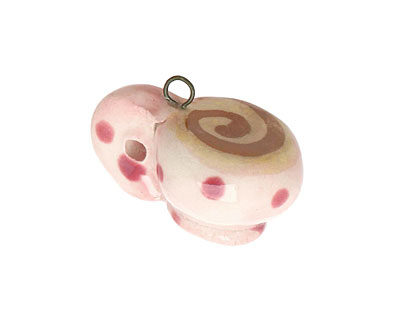 Jangles Ceramic Pink Coffee Cup Charm 17-18x15-17mm