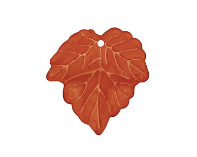 Lucite Terra Cotta Small Ivy Leaf 24x25mm
