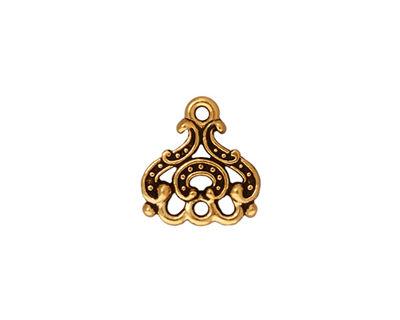 TierraCast Antique Gold (plated) Empress Chandelier 13x14mm