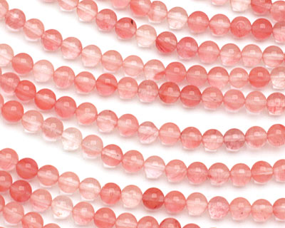 Cherry Quartz Round 6mm