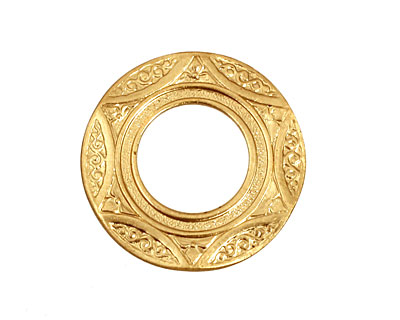 Brass Scalloped Ring 26mm