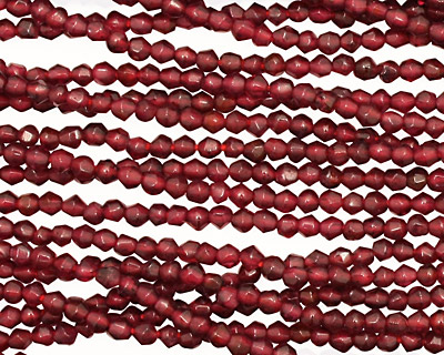 Garnet Faceted Bicone 2-2.5mm