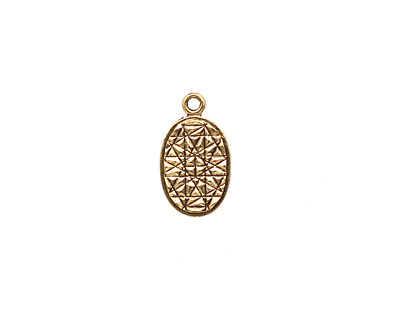 Stampt Antique Gold (plated) Oval Tag 9x15mm
