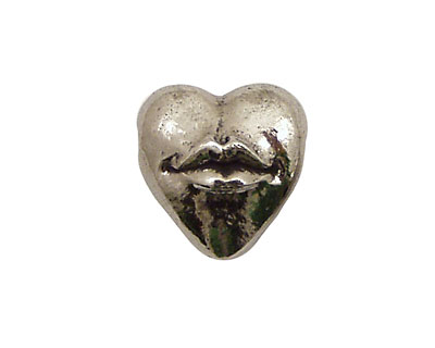 Green Girl Pewter Hot Lips 15x17mm