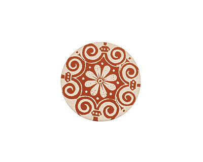 Lillypilly Bronze Scrolling Daisy Anodized Aluminum Disc 19mm, 24 gauge