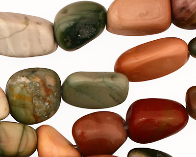 Imperial Jasper Tumbled Nugget 10-18x8-14mm