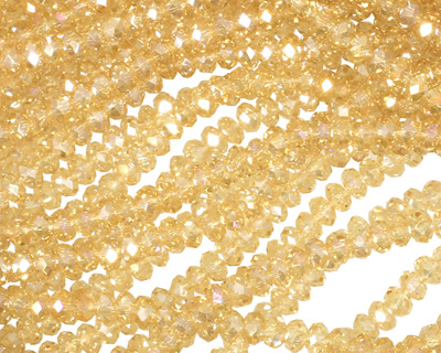 Jonquil AB Crystal Faceted Rondelle 3mm