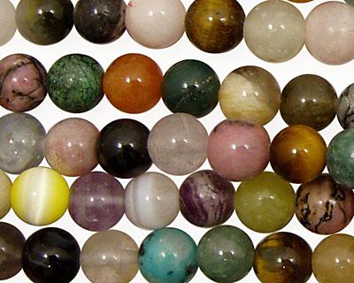Multi Gemstone Round 8mm