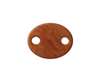Tagua Nut Caramel Oval Link 24x19mm
