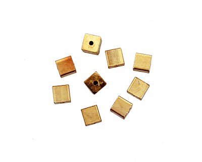 Memory Wire Gold (plated) Cube Endcap 4mm