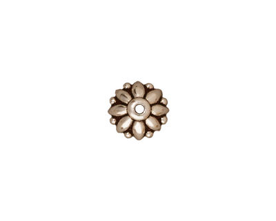 TierraCast Antique Silver (plated) Dharma Bead Cap 4x10mm