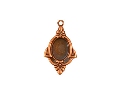 Stampt Antique Copper (plated) Voque Oval Setting 6x8mm