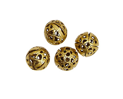 Stampt Antique Gold (plated) Filigree Ball 8mm