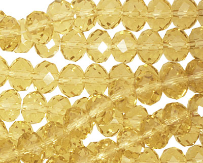 Honey Crystal Faceted Rondelle 8mm