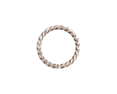 Nunn Design Antique Silver (plated) Grande Rope Jump Ring 17mm
