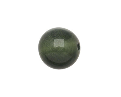 Tagua Nut Forest Green Round 16mm