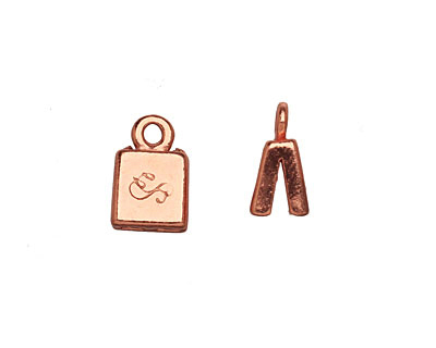 SilverSilk Copper (plated) Double Strand End Cap 13x8mm