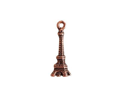 Nunn Design Antique Copper (plated) Eiffel Tower Charm 8x21.5mm