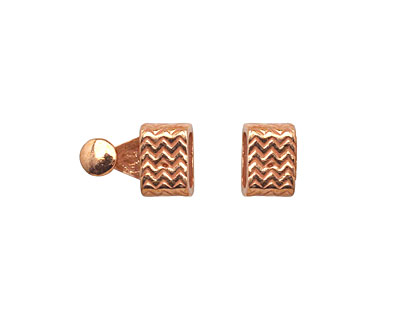 Copper (plated) Zig Zag Clasp 16x7mm