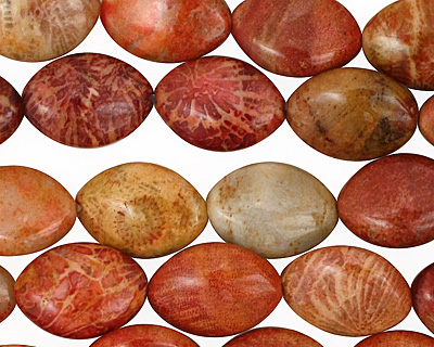 Fossil Jasper (rose) Horse Eye 14x10mm
