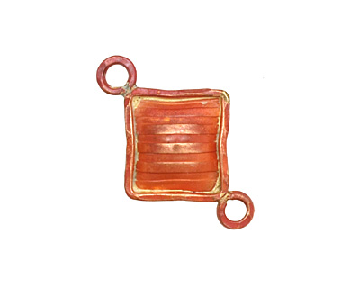 Patricia Healey Copper Solid Diamond Link 29x19mm
