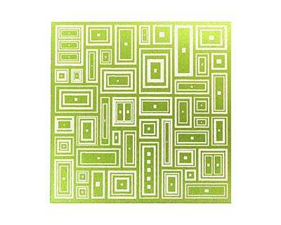 Lillypilly Lime Green Deco Rectangle Anodized Aluminum Sheet 3