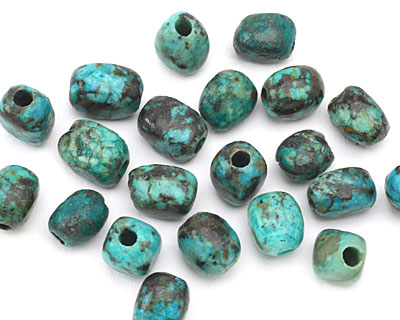 African Turquoise Nugget (Large Hole) 10x8mm