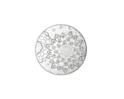 Lillypilly Silver Dahlia Anodized Aluminum Disc 19mm, 22 gauge