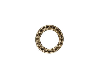 TierraCast Antique Brass (plated) Medium Hammertone Ring 13mm
