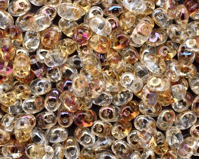 Crystal Twilight SuperDuo 2x5mm Seed Bead