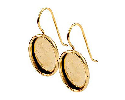 Nunn Design Antique Gold (plated) Large Oval Frame Earring 16x20mm