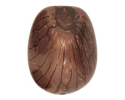 Tagua Nut Dark Brown Nugget 40-45x32-36mm