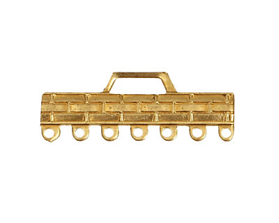 Brass Woven Bar 1-7 Link 32x12mm