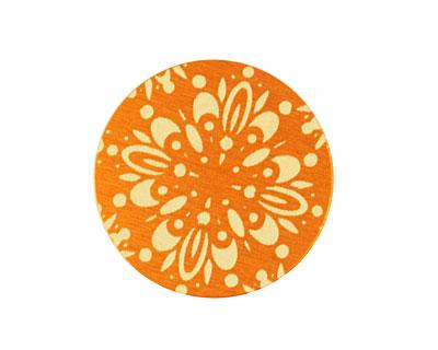 Lillypilly Orange Kaleidoscope Anodized Aluminum Disc 25mm, 24 gauge