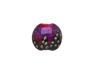 Grace Lampwork Violet Twilight Lentil 14-15mm