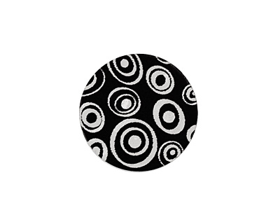 Lillypilly Black Groovy Circles Anodized Aluminum Disc 19mm, 22 gauge