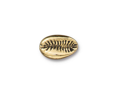 TierraCast Antique Gold (plated) Cowrie Shell Bead 14x9mm