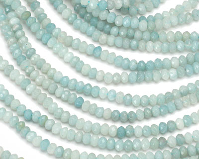 Amazonite Faceted Rondelle 4mm