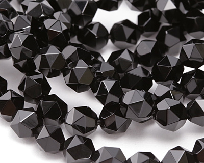 Black Onyx Star Cut Round 8mm
