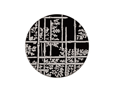 Lillypilly Black Bamboo Anodized Aluminum Disc 25mm, 22 gauge