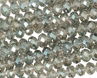 Luster Marine Crystal Faceted Rondelle 6mm
